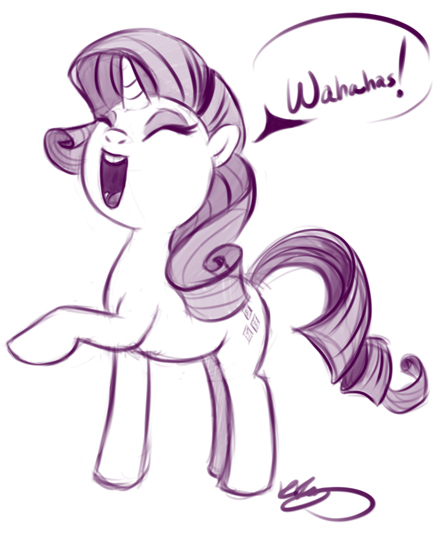 Rarity Laugh Stream by bunnimation