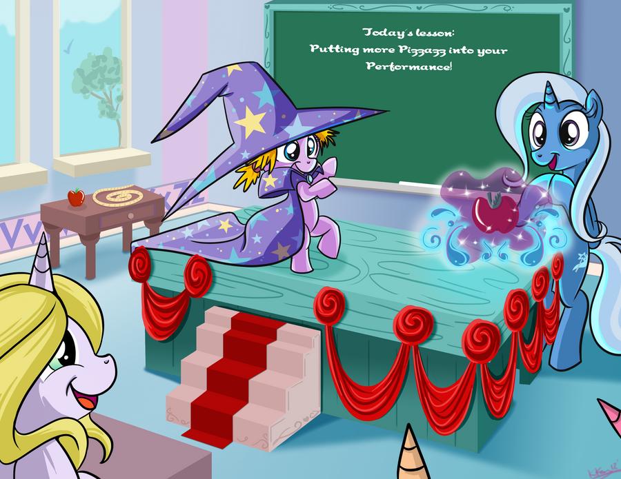 Trixie Teaches magic Kindergarten-Commission by bunnimation