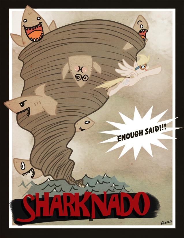 SHARKNADO!! by bunnimation