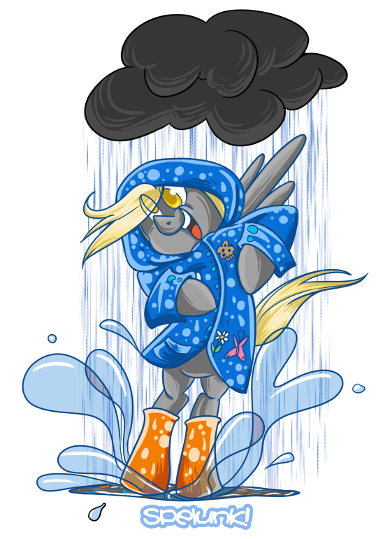 Derpy Splash! by bunnimation