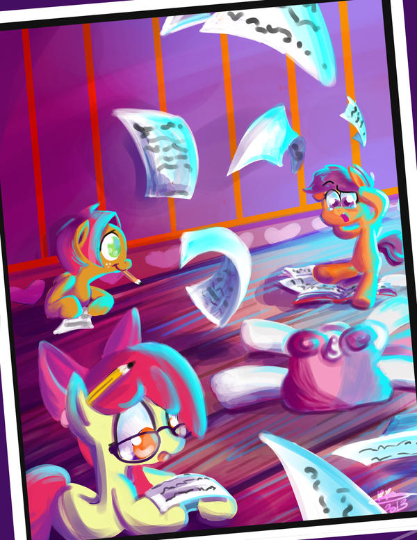 CMC do somehomework, maybe by bunnimation