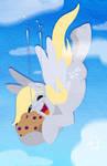 Flying muffin catch!