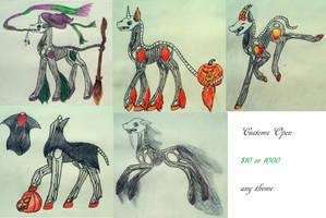 Halloween Themed BonePones (5/5 Open) by KnifeofBloodyTears