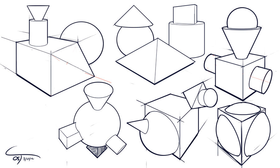 day 5 5 simple shapes sketch blog by complxdesign - Simple Shapes