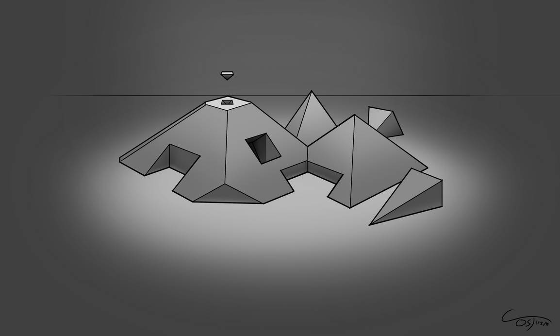 D36 - Perspective Pyramids Rendered