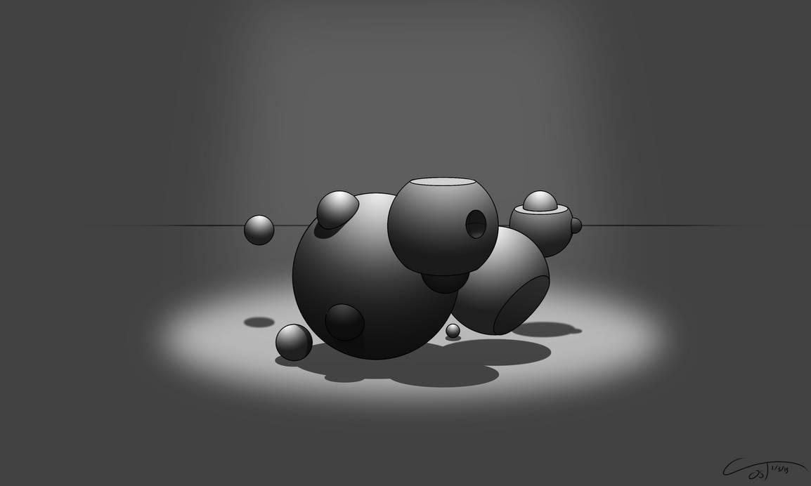 D37 - Perspective Spheres Rendered