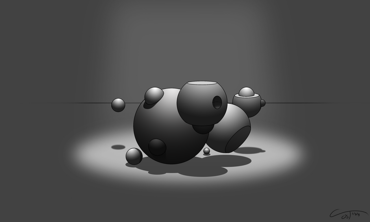 D37 - Perspective Spheres Rendered by ComplxDesign