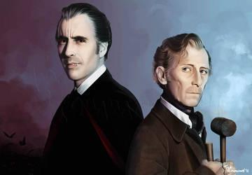 Dracula and Van Helsing by ted1air