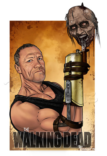 Merle Dixon: Walking Dead by ted1air