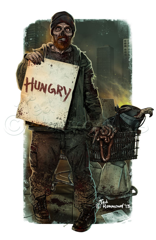 Homeless zombie by ted1air