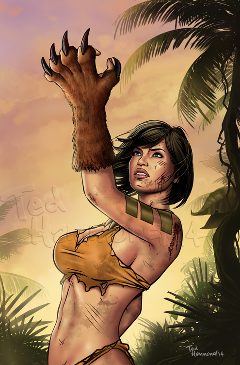 Jungle Book #5 cover -Zenescope Entertainment by ted1air