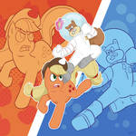 Sandy Cheeks vs. Applejack
