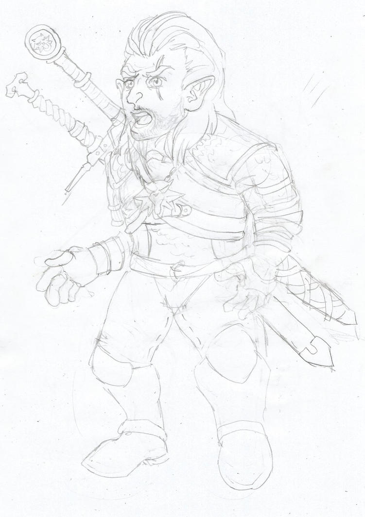 Halfling TF - Geralt of Rivia (Remake) by Kinokio