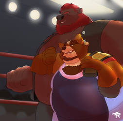 Wrestling Bros by Kinokio