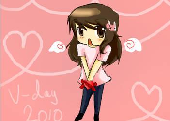 V-day 2010 drawing by DaRainbowGurl