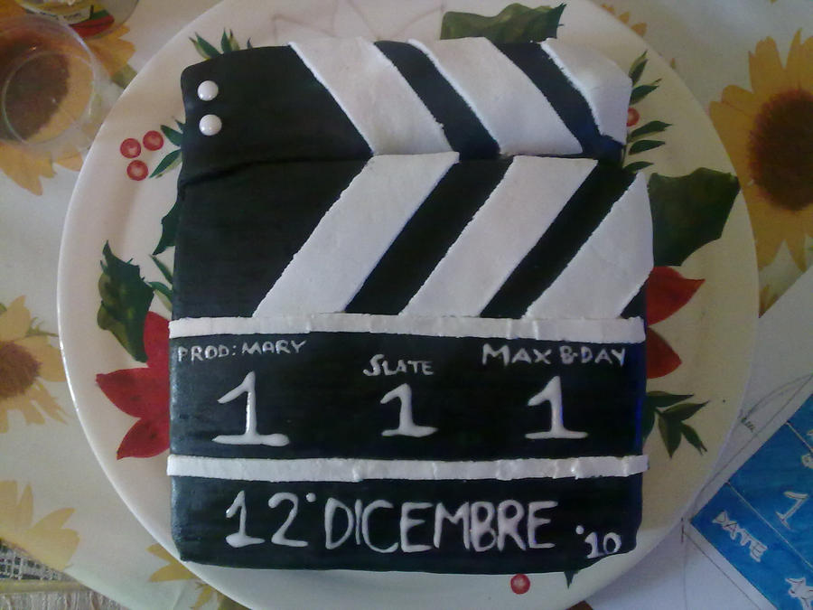 clapper board cake by ~marypiccia on deviantART