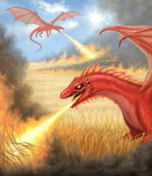 Harvest time - illustration for a dragon calendar