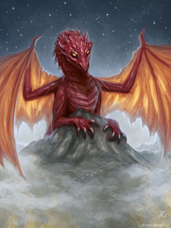 Fiery mountain by ajinak