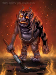 Embarrassing infernal troll with black stripes