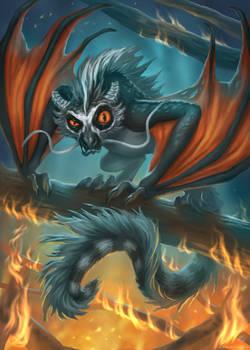 Fiery lemudragon (Lemudraco igneus)