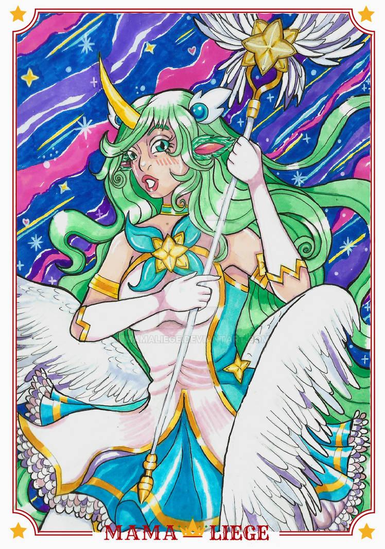 [FANART] Soraka Star Guardian by MamaLiege