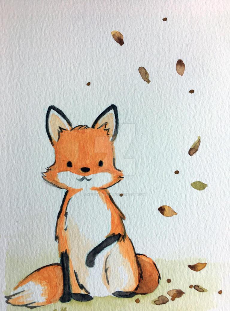 The fox II - Autum leaves by Ksiopeaslight
