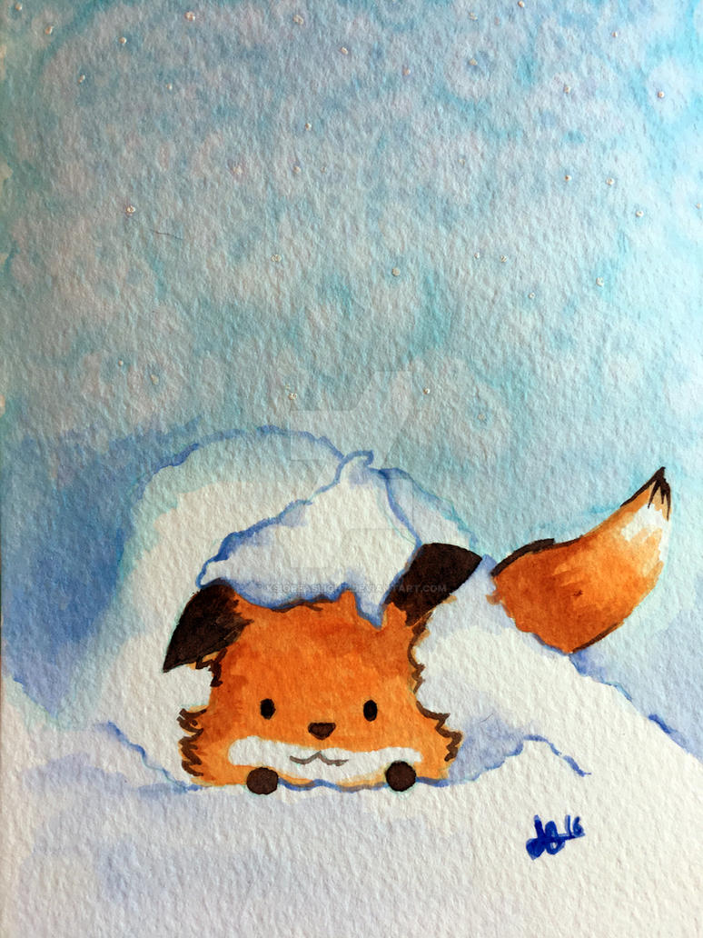 Fox III - Winter snow by Ksiopeaslight
