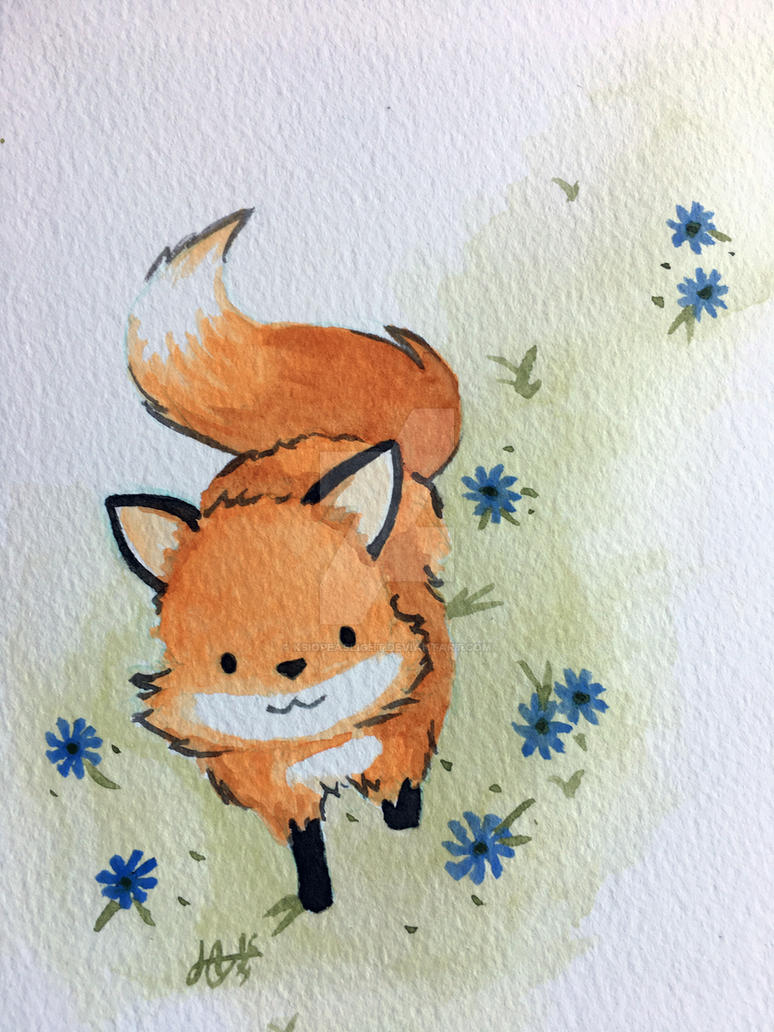 Fox IV - Spring happiness by Ksiopeaslight