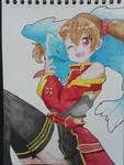 Silica - Sword Art Online (watercolor)