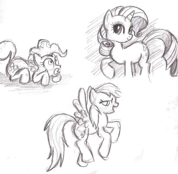 a few moar ponies by little-ampharos