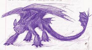 purple Toothless
