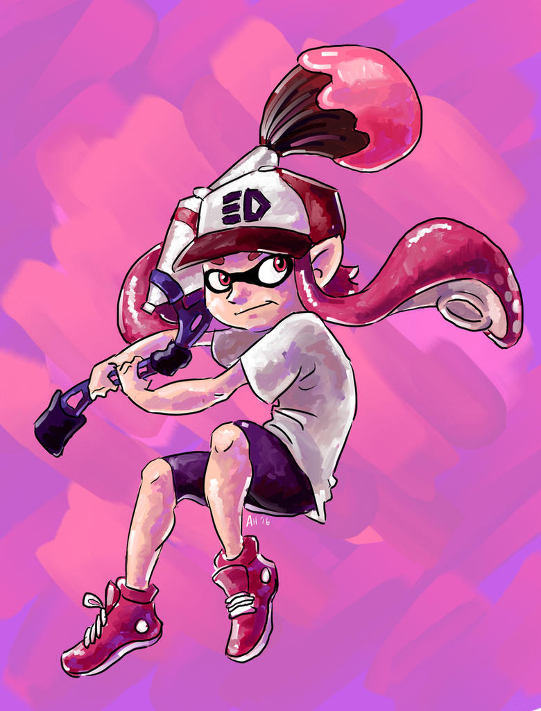 Inkling Girl by little-ampharos