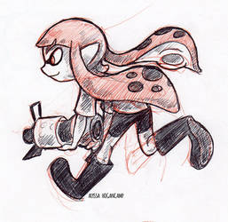 Running Inkling by little-ampharos