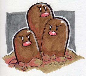 #051 Dugtrio by little-ampharos