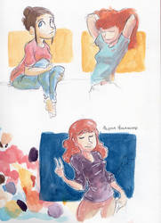 Watercolor Practice by little-ampharos