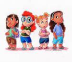 Sidekicks Collab - Yuki, Mertle, Elena and Teresa
