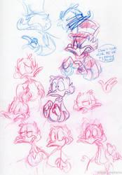 Scrooge Sketchbook Page 6 by little-ampharos