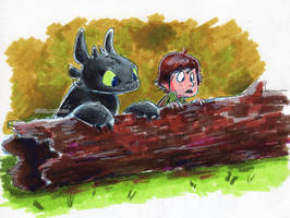 Hiccup And Toothless Investigate Something by little-ampharos
