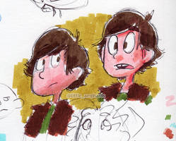 Hiccup Doodles by little-ampharos