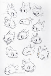Toothless Faces by little-ampharos