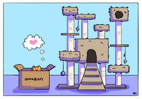 Cat Tower by little-ampharos