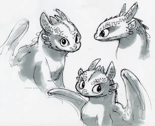 Toothless Drawings by little-ampharos