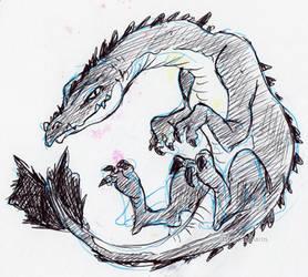 Pen Dragon by little-ampharos