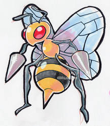 #015 Beedrill by little-ampharos