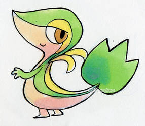 #495 Snivy by little-ampharos
