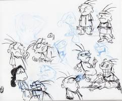 EEnE Sketchbook Page by little-ampharos