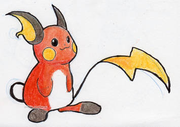 #026 Raichu by little-ampharos