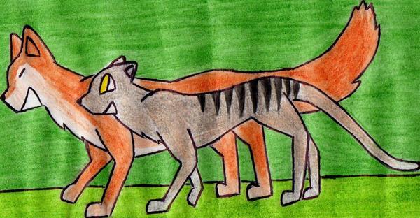Thylacine and Dingo by Kooskia