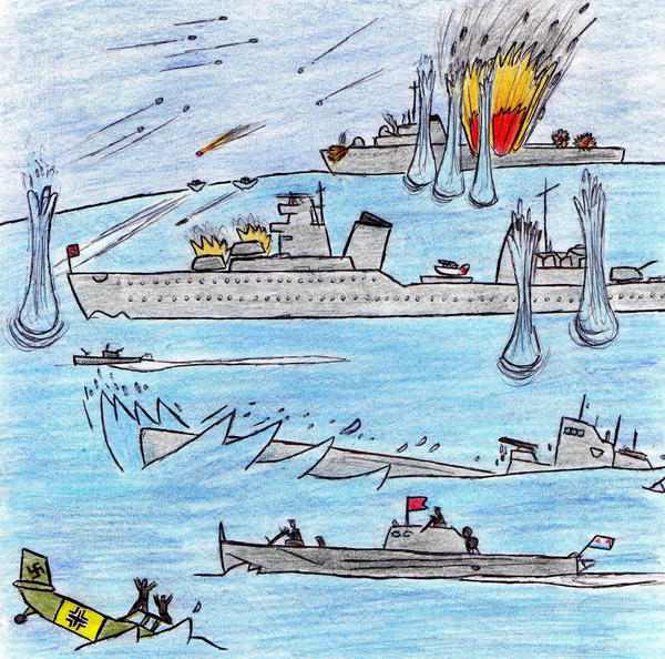 Soviet Naval Battle by Kooskia