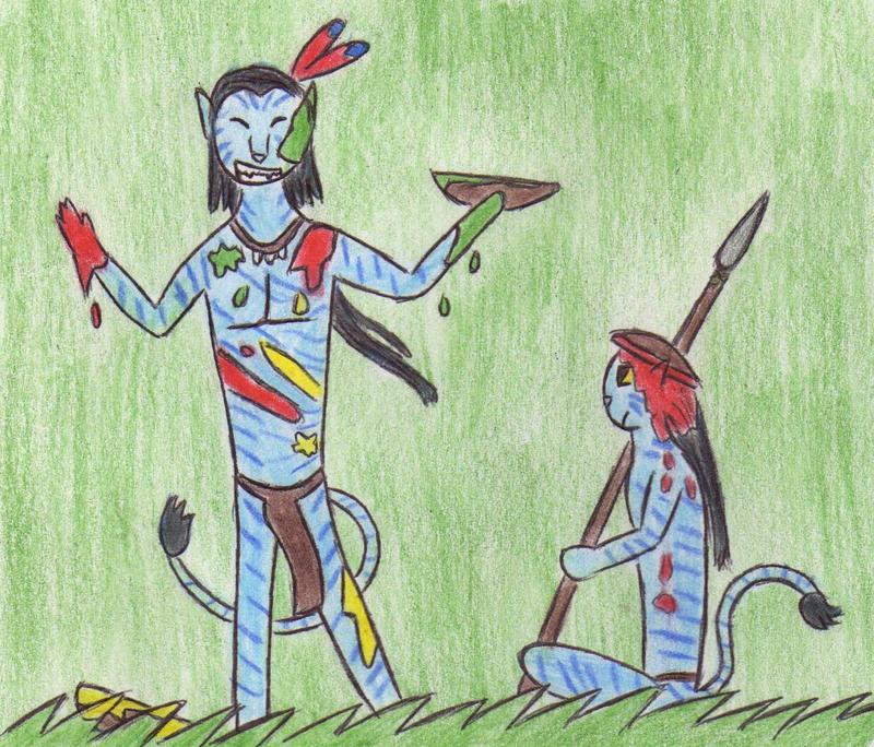 Na'vi War colours from Avatar by Kooskia